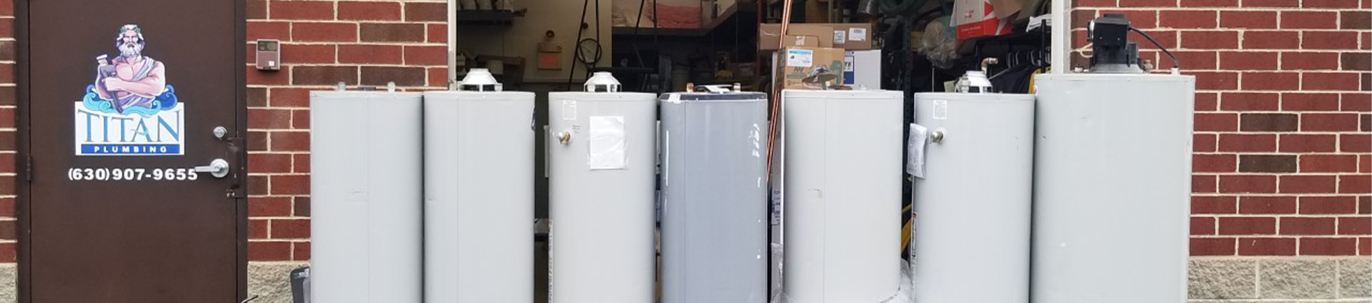 Titan water heater banner