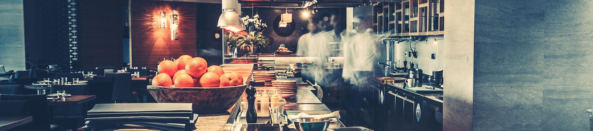 busy restarant kitchen